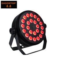 TIPTOP 24 x 12W RGBW Nicht wasserdicht Aluminium LED par Leuchte 4in1 Farbe Klein 25 Grad Linsenlüfter Kühlung Flache Aluminiumgehäuse Form verdichtet