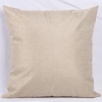 DIY Sublimation Leerer Leinen 45 * 45 cm Kissenbezug Zweiseitige quadratische Wärmeübertragung Druck Flachs Verbrauchsmaterial Kissenbezug