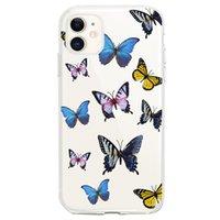Migliori vendere iPhone 12 Case for iPhone 12 11 Mini Pro Max farfalla antiurto copertura Shell cellulare 11 farfalla Moblie casse del telefono