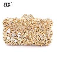 Frauen Abend Party Tasche Diamanten Elegante Kristall Clutch Luxus Braut Hochzeit Gold Geldbörse Handtasche Schmetterling Torebki Damskie1