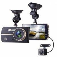 Camcorders Car DVR داش كاميرا 1080P مسجل عدسة مزدوجة 4inch ips شاشة القيادة متعددة اللغات سحب back1