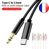 3,5 mm de áudio Cabo de Extensão Aux Cord para Xiaomi TypeC Cabo USB para 3,5 por Samsung para Speaker Car Headphone Connector