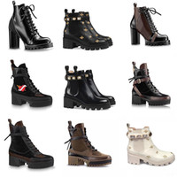designer Martin Boots Desert Boot Women winter boots100% Genuine Leather Print lady Ankle Boots 5cm 9cm Chunky Heel Ankle Boots