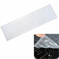 لوحة المفاتيح يغطي 1 قطعة سطح المكتب العالمي غشاء الكمبيوتر واقية السيليكون مضاد للجراثيم مكافحة الغبار antifouling1