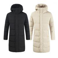 Erkek Aşağı Parkas Kış Erkek Uzun Kapüşonlu Ceketler Işık Sıcak Beyaz Ördek Palto Adam Açık Kar Kayak Kirpi Ceket Erkek Giyim JK-9451
