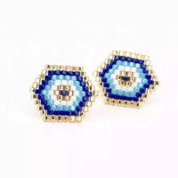 Zhongvi Miyuki Ohrringe Delica Evil Eye Stud Perles Frauen Schmuck Insta Mode Handgemachte Beadweaving Geschenke1