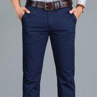 Erkek pantolon fipyjip rahat iş artı boyutu 28 -40 düz pamuk yüksek kalite