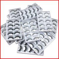 12 Styles Falso Falso Cílios 3D Mink cílios Maquiagem 5pairs / s Long Individual Cílios Mink Lashes Extensão G800 G801 G802 G803 G804 G805