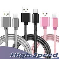 Metallgehäuse Geflochtene Micro-USB-Kabel 2A Durable High Speed USB Charging Typ C Kabel mit 10000 Bend-Lebensdauer für Android intelligentes Telefon