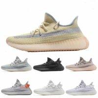 2020 Высочайшее качество Мужские Беговые Обувь Женщины Бегун Спортивные кроссовки Kanye West Cream White Zebra Abez Eliada Triple Black Oreo V2 Двойная коробка