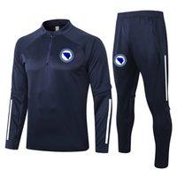 2021 Bosnien und Herzegowina Trainingsanzüge Kits Survetement Fussball Training Anzug MAILTOT DE FOOT SET FOCER Jogging Tracksuits Sets Laufsets