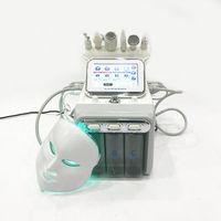 7 في 1 h2 o2 hydrafacial مع الصمام الخفيفة العلاج قناع الوجه الأكسجين الماء jet aqual تقشير فقاعة آلة مكافحة الشيخوخة الصغيرة