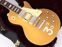 Rare Pete Townshend # 3 Deluxe Goldtop Gold Top GUITARTA ELETTRIC ELETTRICA 3 MINI Humbuckers Pickups, Grover Sintonizzatori, Hardware Chrome