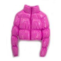 ATXYXTA PUGHER Rook Tooked Parka пузырь пальто зимние женщины новая мода одежда черный красный фиолетовый розовый зеленый синий серебристый XXL 201127