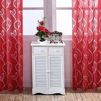39 * 98 Zoll Polyester Semi-Blackout Grommet Top-Fenster-Vorhang-Panel Wohnzimmer Schlafzimmer Hotel Voilevorhang Drape - Rot