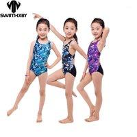 Hxby Corrida Treinamento Crianças Swimwear para Meninas Ternos Banhos Crianças Uma Peça Swimsuit Meninas Swim Wear Swimsuits Natação Suit1