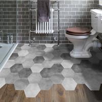 10 teile / satz wasserdicht badezimmer boden aufkleber peel stick selbstklebende bodenfliesen küche wohnzimmer dekor rutschfeste bodenabziehbild