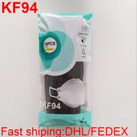 KF94 Yetişkin Toz Geçirmez Ve Nefes Koruma için Maske KF94 Yüz Maskeleri Söğütlü Bireysel Paket Ücretsiz DHL Nakliye
