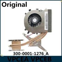 Pads de refrigeração laptop LSC Original para VPCea EA VPC-EA VPCEB EB VPC-EB Radiador de Heatsink com ventilador UDQFRZH13CF0 300-0001-1276_A1