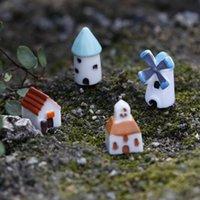 الإبداعية الراتنج البسيطة قلعة الطاحونة الكنيسة البيت موس تيراريوم النبات الأخضر هدية مايكرو ملحقات المناظر الطبيعية الجنية حديقة DIY زكا PPF2484