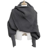 Шали корейских трикотажных ликс шарф воротник унисекс зимний теплый с длинным рукавом пончо шарфы для женщин вязание украшения мужской свитер шарфс1