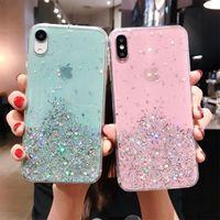 Luxo Bling Dinâmico Liquido QuickSand Telefone Caso para iPhone 12 11 Pro Xs Max XR X Love Coração Glitter Capas Fundas Funda