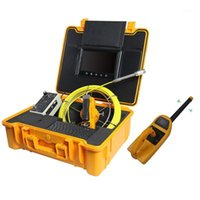 Cámara de inspección de tubería de la tubería de 23 mm 9'LCD 512Hz Receptor Cable duro ABS CASE1