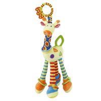 Okday baby giraffe hängende pram bett glocke weiche spielzeug tier handbells rasseln lustige pädagogische mobile spielzeug hand glocke rassel hot lj201124