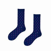 Heren sokken grappige mannen katoen polka dot streep patroon enkel Happy sox bruiloft merk harakuju winter xmas cadeau voor jurk hiphop ins1