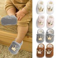Primeiros caminhantes jocestyle bebê inverno coroa peludo passeios sapatos macio sola antiderrapante calçado crob sapato cair
