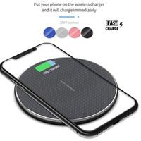 Chargeur sans fil de 10W Qi pour iPhone 12 11 PRO XS MAX XR PAD de charge rapide