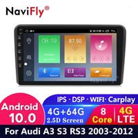 Android 10 4G + 64G سيارة DVD GPS ل A3 8P راديو السيارة الوسائط المتعددة 2003-2012 S3 2006-2012 3 Sportback 2011 WiFi Canbus BT USB1