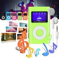 LEORY MINI MP3 Çalar Kulaklık Ile Taşınabilir USB LCD Ekran Desteği 32 GB Spor Müzik Çalar için Mikro SD TF Kart Okuyucu MP31