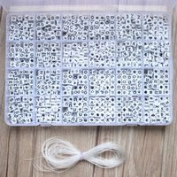 1620pcs rotondo in acrilico lettere perline set per bambini braccialetti collana rendendo materiale in rilievo in plastica alfabeto perline boxs 200930