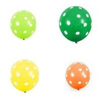 100 unids / lote Coloridos globos de lunares espesaron globos de látex inflables Bolas de aire de la boda Festival de cumpleaños Fiesta de fiesta Decoración de globo 9 G2