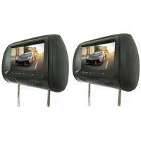 2 قطع 7 بوصة الخلفية سيارة مسند الرأس العالمي HD شاشة رقمية شاشة lcd عرض مقيد الرأس شاشة التلفزيون hot1