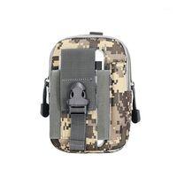 Açık Hiking Seyahat Kiti Evrensel Ordu Taktik Bel Çantası Cep Telefonu Kılıfı Kapak Kılıfı Açık Spor Bag1