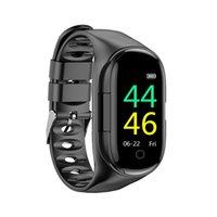 M1 Bluetooth наушники сердечных частот монитор сердечного ритма Умный браслет Длительное время ожидания фитнес браслет спортивные часы с беспроводными наушниками DHL бесплатно