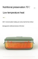 الغداء FreeShipping و220V بواط المياه محمول مجانا الغداء التدفئة صندوق رايس طباخ ثابت درجة الحرارة التدفئة البسيطة الغذاء أدفأ 800ml