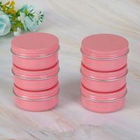 50PCS розовый 10г 30г 50г 60г Алюминиевые баночки бальзам для губ горшок для ухода за кожей Крем для век Блеск для губ Liquid Base Foundation Контейнер Tins