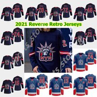 Nova York Rangers 2021 Reverse Retro Jerseys de Hóquei 13 Alexis Lafreneere Jersey Artemi Panarin Henrik Lundqvist Mika Zibanejad Costume Stitche