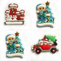 2020 Yılbaşı Ağacı Süsleme El Temizleyici Modeli DIY Tam adı Blessing Kelimeler Kardan Adam Christmases Serisi kolye 5bda J2