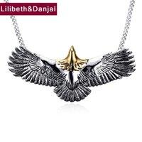 Hiphop Moda Eagle Pendant 100% Real 925 Sterling Silver Collana Ciondolo Uomini Donne Gioielli Regalo Gioielli Belle Gioielli indiani LJ201016
