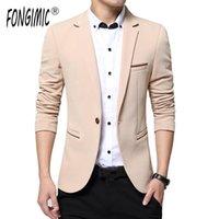 Herrenanzüge Blazer Fongimic Frühling Herbst Mode Herren Blazer Männer Lässige Modelle Hohe Qualität Anzug Jacke für Einzelknopfgröße M-5XL