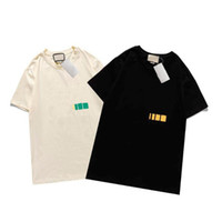 Дизайнер Мужская футболка Новое Летнее Короткая Рукав Топ Европейская Американская Популярная Печатная Футболка Мужчины Женщины Пары Высококачественные футболки TEE S-XXL