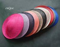 Alta qualità Sinamay Binding Grande piattino Sinamay Base Base Fascinator Cappello Cappello Fornitura artigianale, per Derby, Gare, Party, Matrimonio, Diametro 33cm.