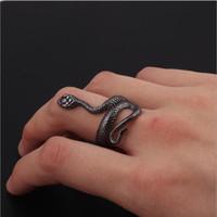 Joyería de la manera punky del estilo de la serpiente Anillos unisex personalidad exagerada en forma de serpiente de Europa y América del anillo de la banda del club al por mayor de joyería