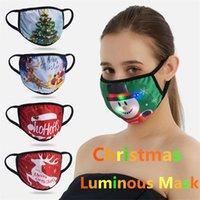 Christmas Luminous Mask 15 Colors Changing Glowing LED Face Mask for Masquerade Cartoon Printed Led Lights Christmas Adult Masks