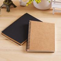 المفكرة A5 / A6 كرافت ورقة دفتر دوامة لفائف اليومية اليدوية مجلة مذكرة الكتابة على الجدران فارغة كراسة الرسم المفكرة مخطط 2021 منظم