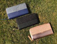 Original Box Marke Designer Klassische Glitzer Brieftaschen Glänzende Reißverschluss Cluth Bag Kartenhalter Münze Geldbörse WristletsUrining Für Frauen